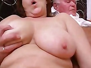 daughter double-penetration granny mature threesome